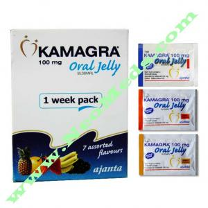 Kamagra Oral Jelly 100 - Sildenafil Citrate - Ajanta Pharma, India